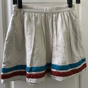 Forever 21 Boutique Skirt - Blue and Red Stripes S